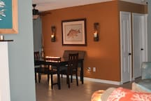 A view into the dining room.