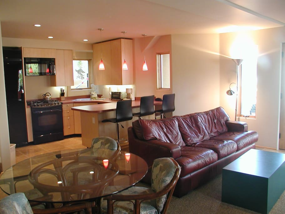 Living Room and kitchen area