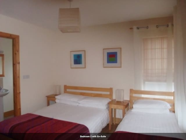 Bedroom 2 En-suite with One Double & One Single Bed