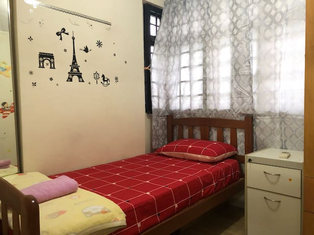 Clean private room with aircon