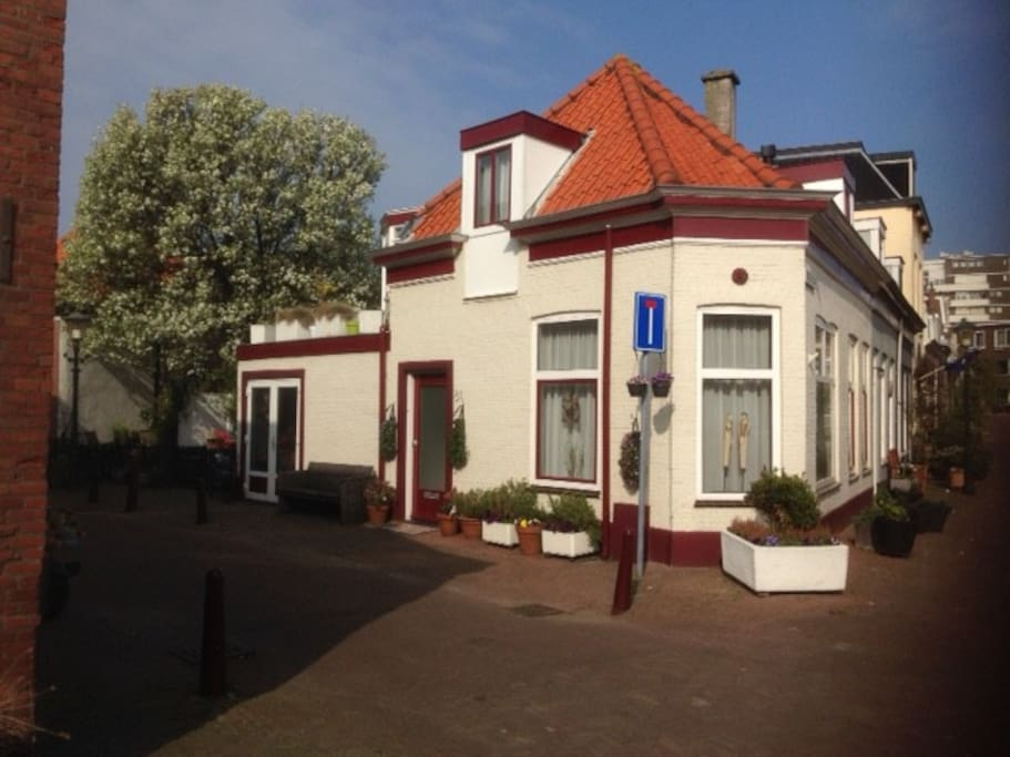 The historic house in the oldest quarter of Scheveningen