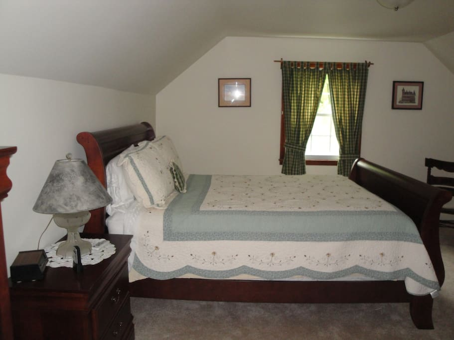 Queen sized bed, private bath