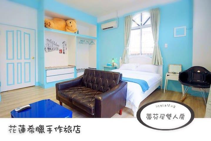 花蓮市區希臘手作旅店 精選雙人房  近花蓮火車站 步行即可到達 超高評價