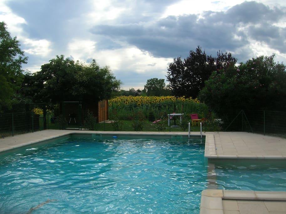 piscine 12 x 6 et son bassin enfants
