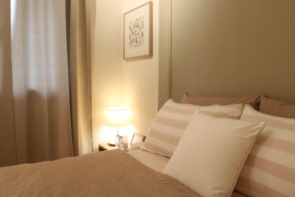 溫暖、舒適的房內空間,釋放平日壓力。
