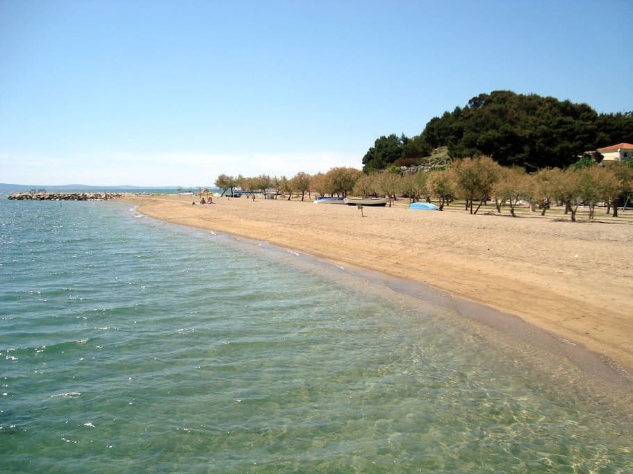 Beautiful sandy beach just few minutes walk from your apartment