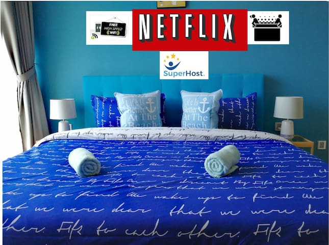 ❤️Couple Nest w/Jacuzzi Bathtub *Seaview [NETFLIX]