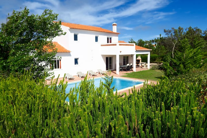 3 bed detached villa with pool & WiFi, Arrifana