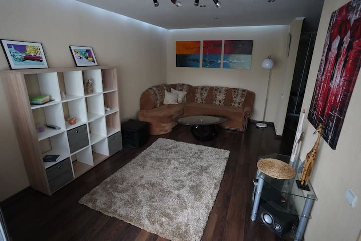 2 rooms apartment, 7 minutes from the city center.