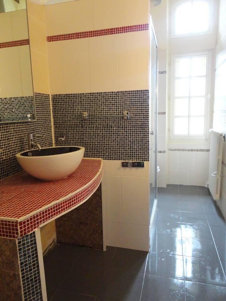 Chambre privé standart dans un Château 19 iem
