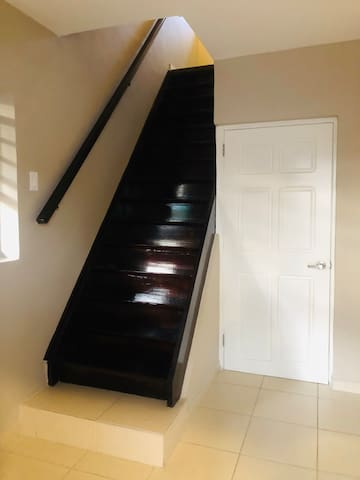 Stairs to the bedroom/walking closet/bathroom