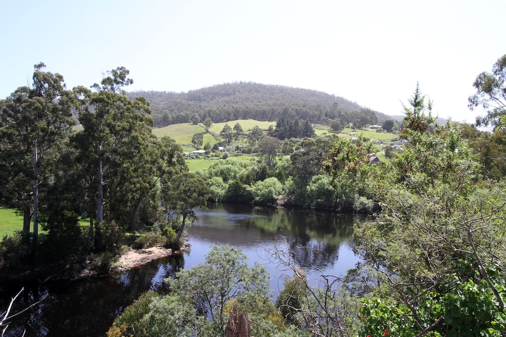 The property looks down onto the Huon River