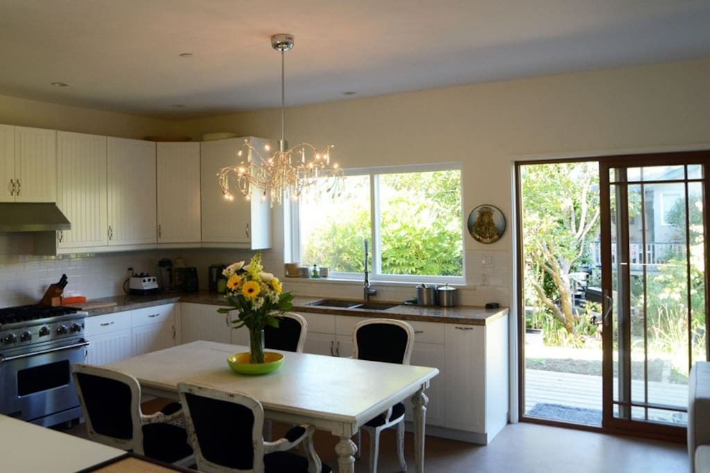 Granite counter, gas stove, all new appliances