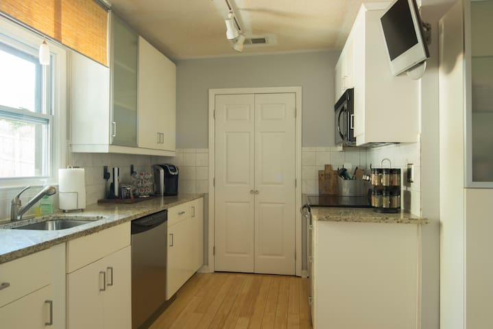 Fully equipped and updated kitchen. Ready for your cooking skills or takeout!