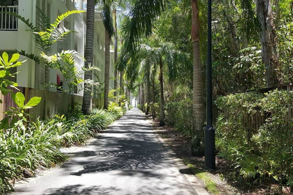 The apartment is surrounded by beautiful tropical gardens