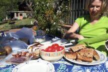 Desayuno bajo el sol!