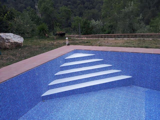 Amplia piscina.