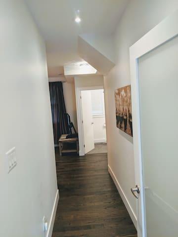 Main floor private bedroom entrance