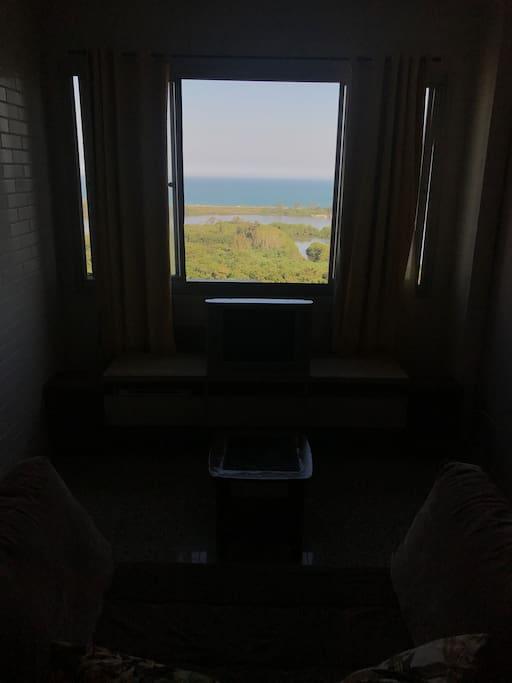 Sala de estar, vista p/mar.