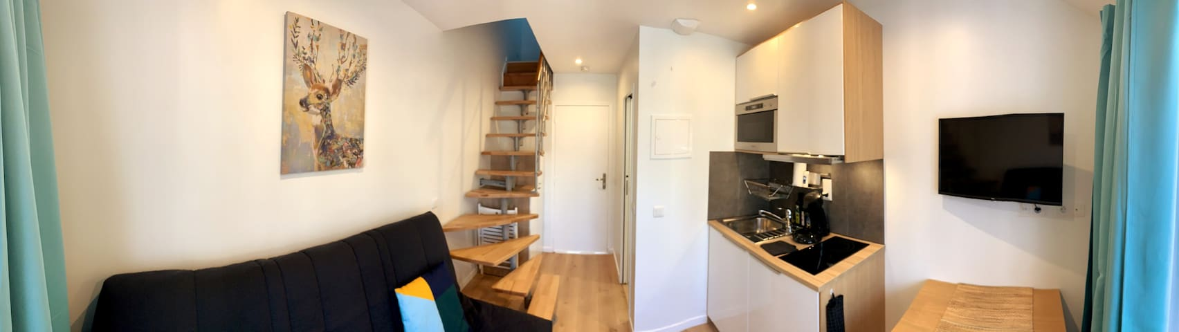 Cosy duplex.RER: 600m, Chatelet:29 min,Orly:20 min