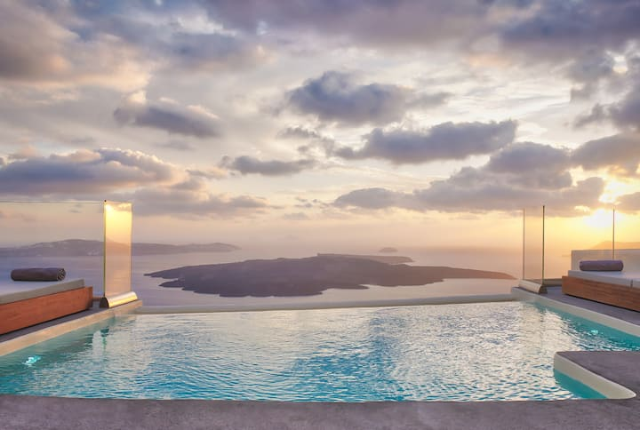 Villa Anastasia with shared infinity pool
