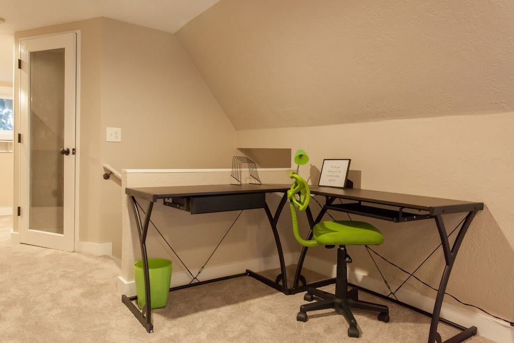 Stay organized from your own work station, free from the distractions of home!