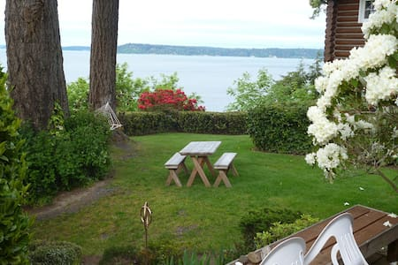 Magical Puget Sound Beach Cottage! - Olympia - Kabin