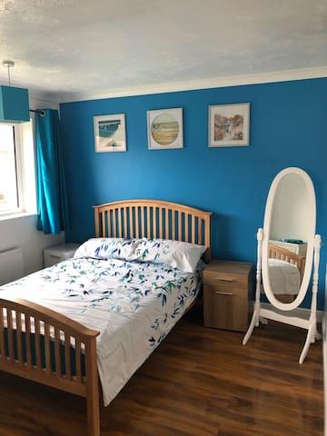 Double bedroom in a quiet house