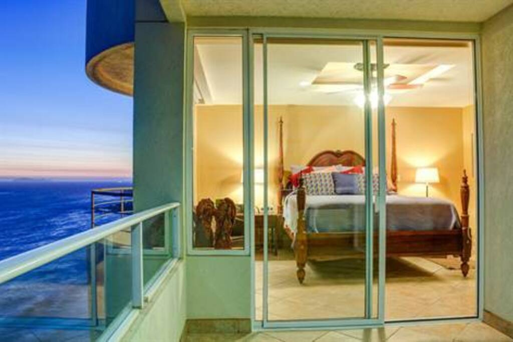 Balcony view of master bedroom.