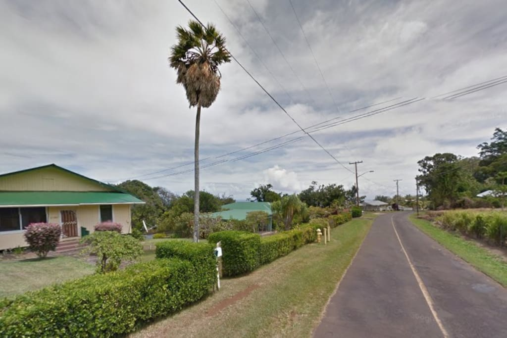 Front view of the Waipi`o Hostel