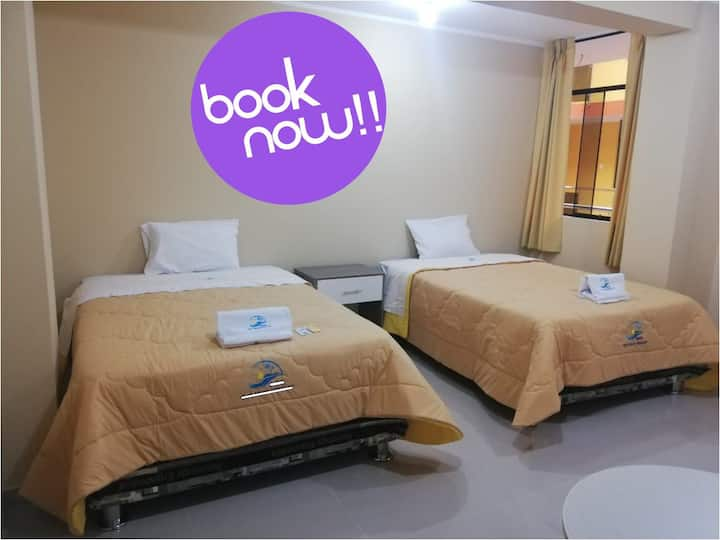 Double rooms with pool, beach, Huacho