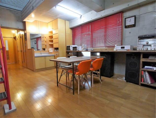 トライアングル22(Room1):ゲスト+ホスト+ハウス Enjoy Hiroshima!