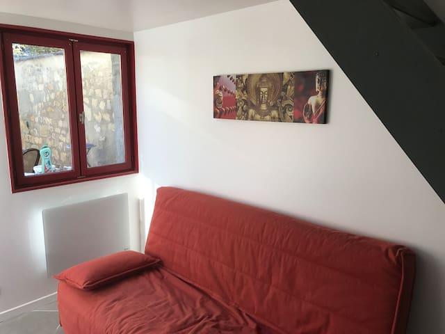 Charmant Studio en duplex avec terrasse et parking - Margny-lès-Compiègne - House
