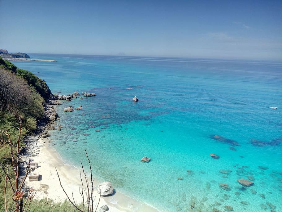 Michelino Beach situated 100m from the apartment