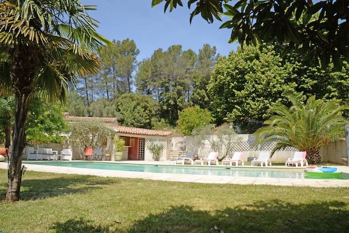Aubagne en Provence, villa 3 chambres avec piscine