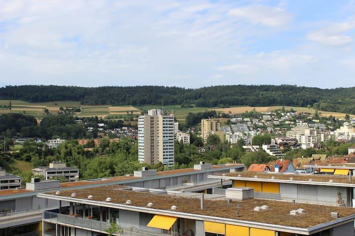 Möblierte 1.5 Zimmer Wohnung mit schöner Aussicht - Baden - Daire