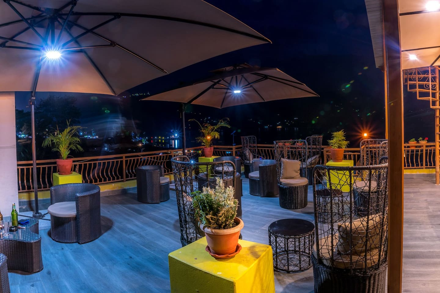 Our roof top terrace with beautiful views of the lake