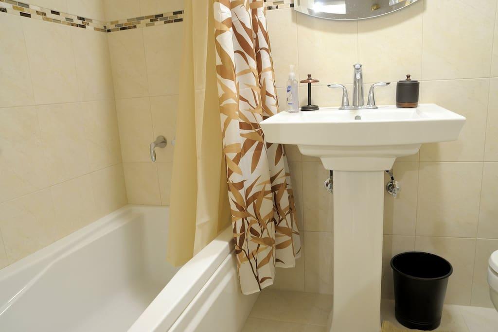 Newly renovated modern bathroom.