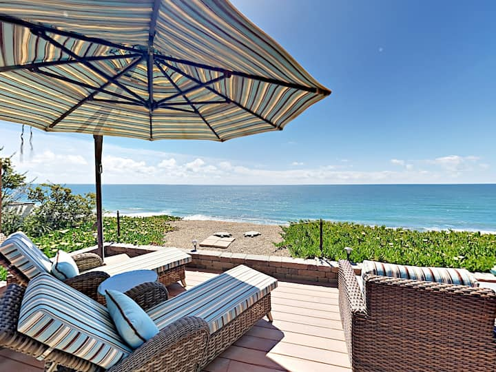 Ocean's Edge! Luxe 2-Story Home with Stunning View
