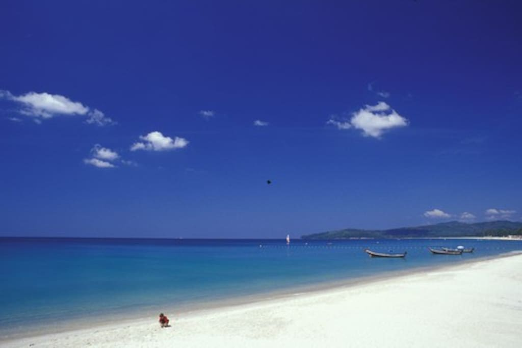 7 kilometers of pristine sand just 200 meters away.
