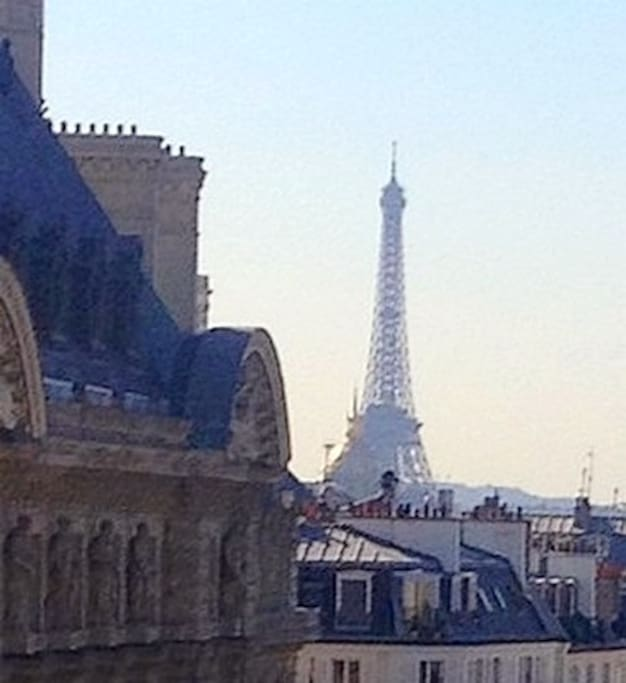 Direct view on the Eiffel tower : that's Paris !