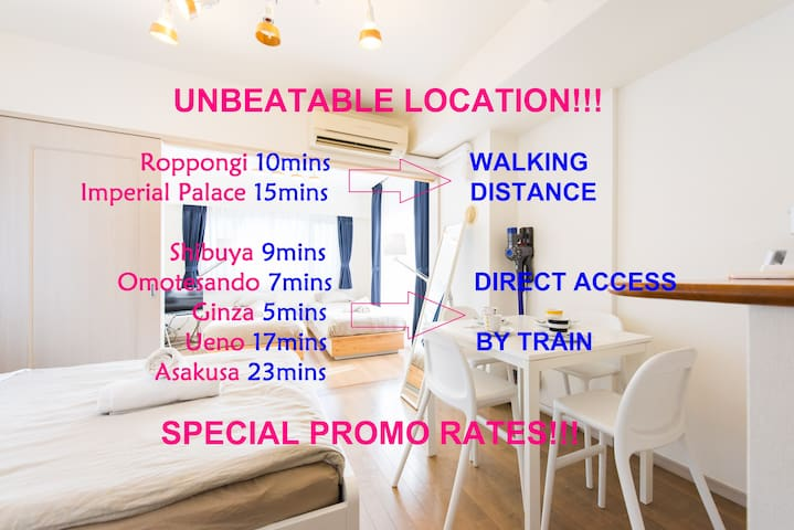 Cozy Urban Apt A @ Best Price&Place - Minato-ku - Appartement