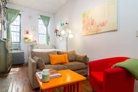 This quaint pre-war studio is located in the heart of the East Village, one of New York's most eclectic neighborhoods.