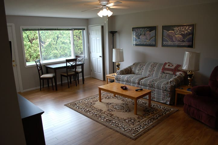 Lovely spacious 1 bdrm  suite 25 min Silver Star - Vernon - Hus