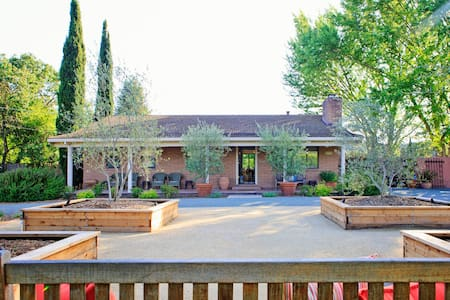 3-BR/2-BA House   TOP REASONS TO BOOK - Quiet getaway ON the vineyard  - Central wine country location  - Walk to tasting rooms  - Pool & hot tub - Bocce Ball court   - On-site massage services  - 5-Star Reviews