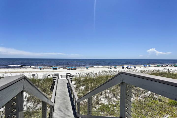This 2-bed, 2.5-bath 'Walton Dunes' unit lies closest to the beach!