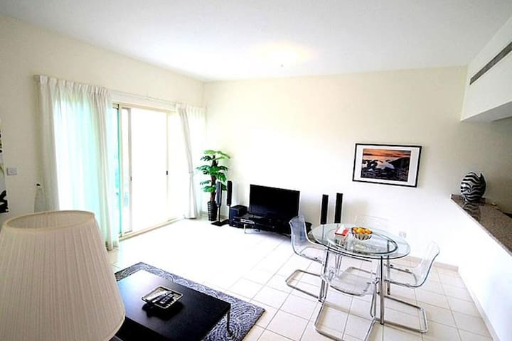 Quite and Upgraded 1BR apartment in The Greens