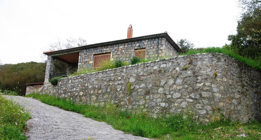 Stone cottage in traditional village