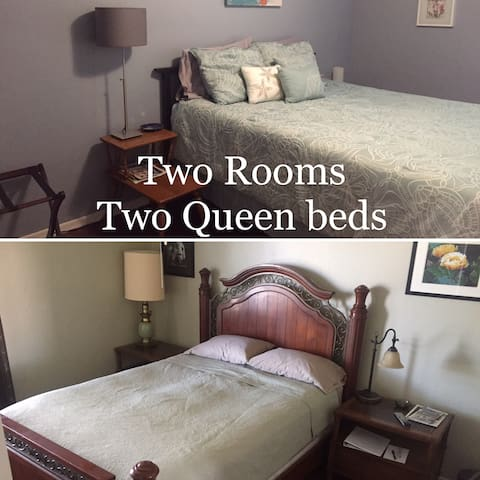 Two rooms, two queen beds - Vail - Huis