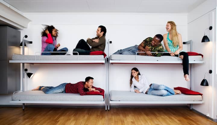 Dormbeds in shared dormitory